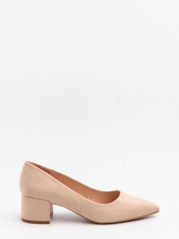 Pantofi cu toc cod LL81 Beige