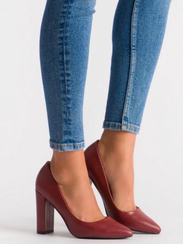 Pantofi cu toc cod OD0115 Wine Red