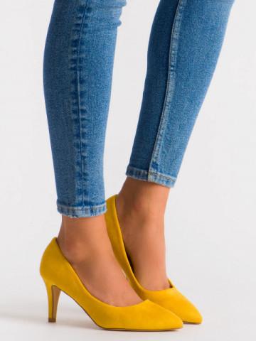 Pantofi cu toc cod OD0284 Yellow
