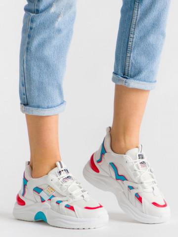 Pantofi sport cod 001493 White/Blue