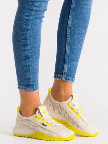Pantofi sport cod 1603 White/Yellow