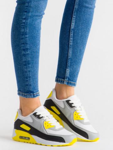 Pantofi sport cod 351-21 Black/Yellow
