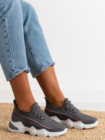 Pantofi sport cod 86001 Grey/Pink