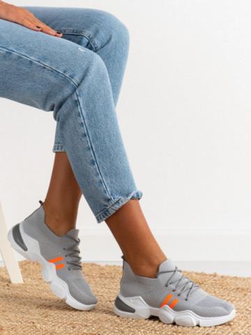 Pantofi sport cod 86002 Grey/Orange