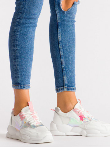 Pantofi sport cod A88-65 White