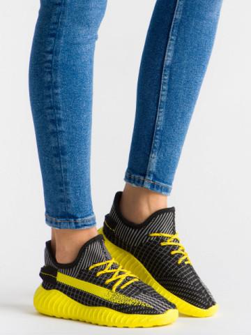 Pantofi sport cod B01 Black/Yellow