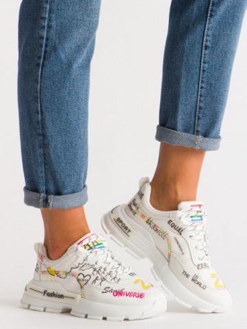 Pantofi sport cod B06 White