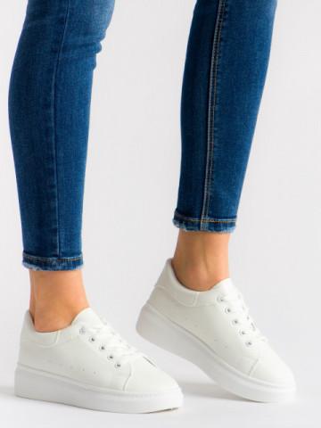 Pantofi sport cod T01 White/White