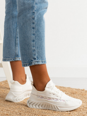 Pantofi sport cod TRF12 White