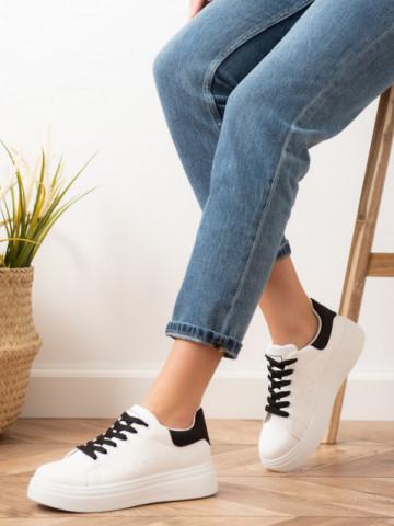 Pantofi sport cod X2931 White/Black