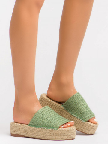 Papuci cod BL00102 Green