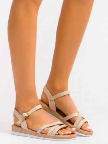 Sandale cod A1117 Beige