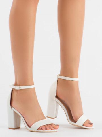 Sandale cu toc cod 223 White