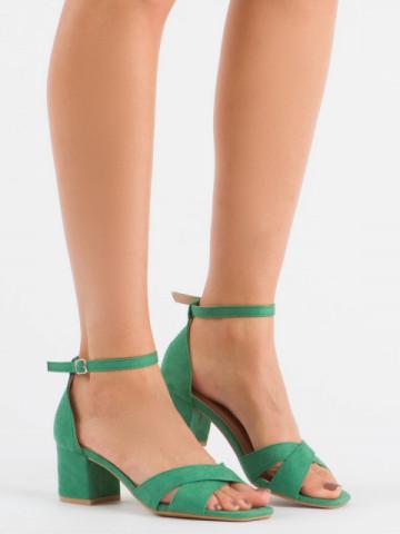 Sandale cu toc cod 3022 Green