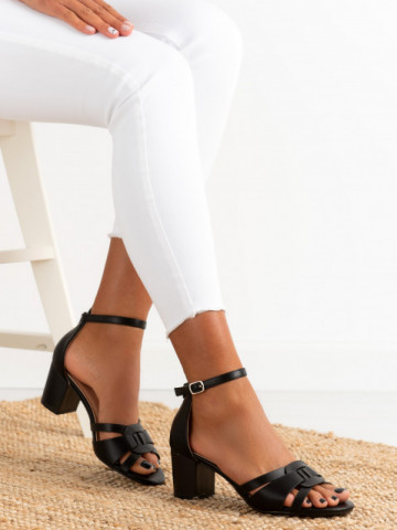 Sandale cu toc cod 372-5 Black