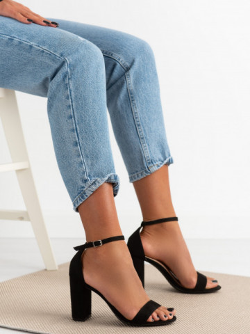 Sandale cu toc cod 5851 Black
