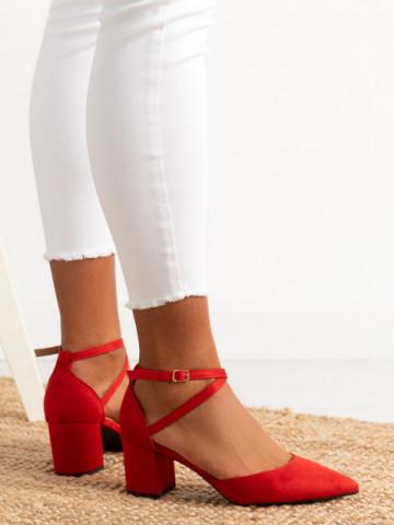 Sandale cu toc cod 6361 Red