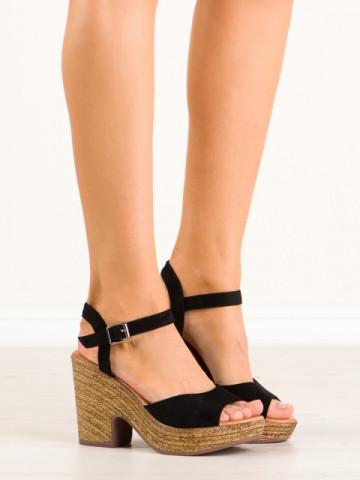 Sandale cu toc cod 7908 Black