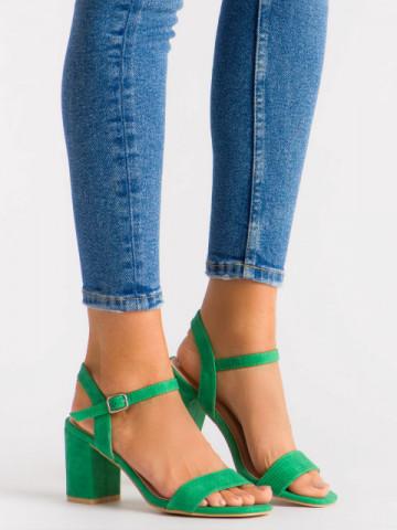 Sandale cu toc cod 8158 Green