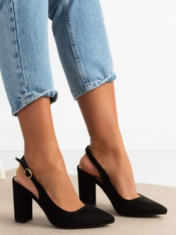 Sandale cu toc cod 9R25 Black