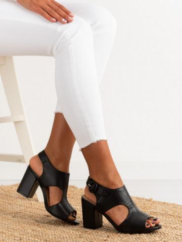 Sandale cu toc cod A8561 Black