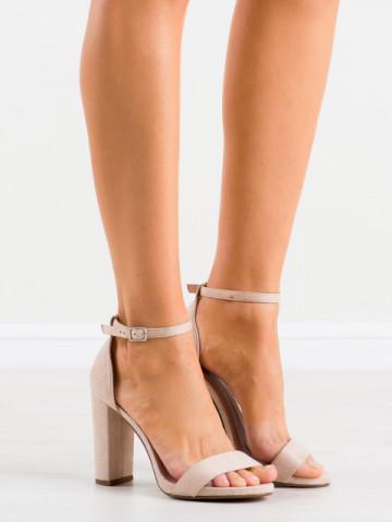 Sandale cu toc cod AF02 Beige