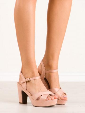 Sandale cu toc cod JC15017 Pink