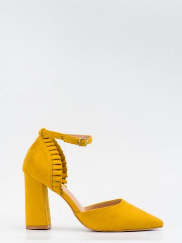 Sandale cu toc cod KK37 Yellow