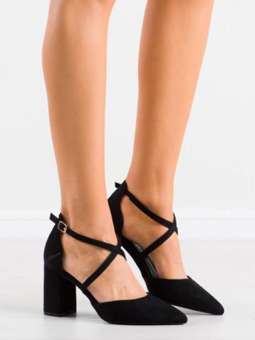 Sandale cu toc cod LE069 Black
