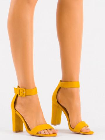 Sandale cu toc cod LU0029 Yellow