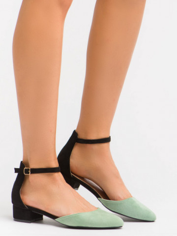 Sandale cu toc cod LU0039 Black/Green