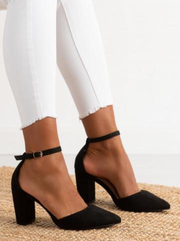 Sandale cu toc cod NC-1007 Black