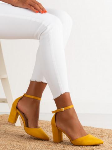 Sandale cu toc cod NC-1007 Yellow