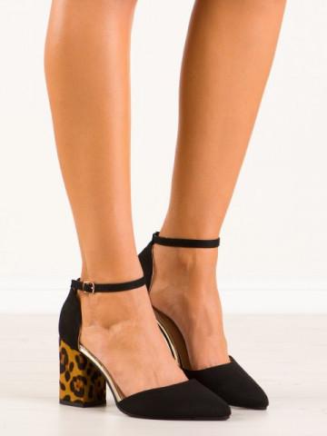 Sandale cu toc cod NC902 Black