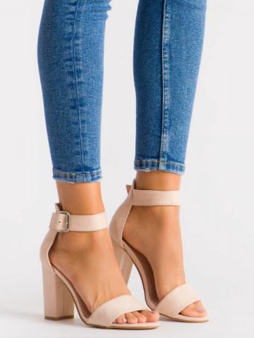 Sandale cu toc cod SH870 Nude