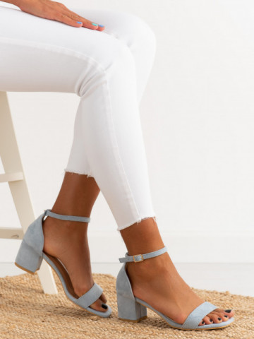 Sandale cu toc cod TU171 Blue