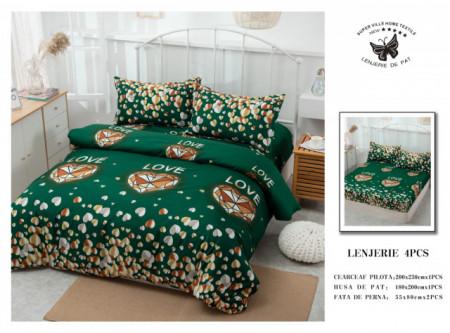 Lenjerie de pat 4 pcs Cearceaf cu Elastic - BS4P 07