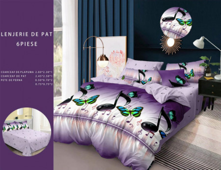 Lenjerie de pat 6 piese din Finet Gros-GR6F 633