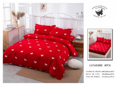 Lenjerie de pat 4 pcs Cearceaf cu Elastic - BS4P 28