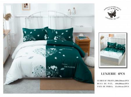 Lenjerie de pat 4 pcs Cearceaf cu Elastic - BS4P 19