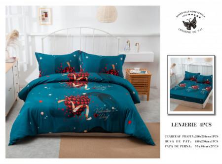 Lenjerie de pat 4 pcs Cearceaf cu Elastic - BS4P 29