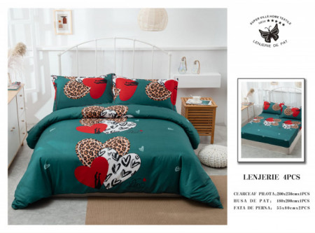 Lenjerie de pat 4 pcs Cearceaf cu Elastic - BS4P 30
