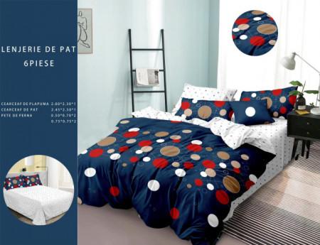 Lenjerie de pat 6 piese din Finet Gros-GR6F 636