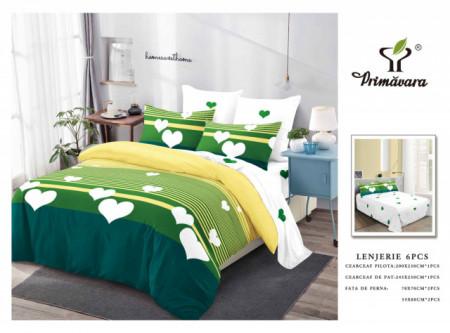 Set Lenjerie de pat 6 piese din Finet Gros-GR6C 674