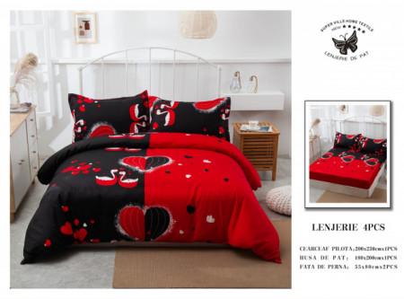 Lenjerie de pat 4 pcs Cearceaf cu Elastic - BS4P 22