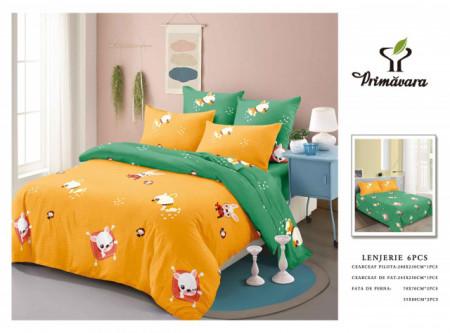 Set Lenjerie de pat 6 piese din Finet Gros-GR6C 548