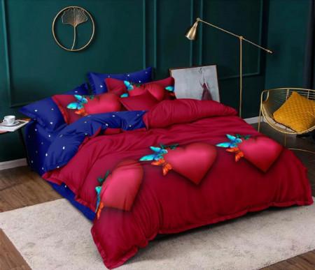 Set Lenjerie de pat 4 piese din Finet Gros pentru 1 persoana- GR4J 28