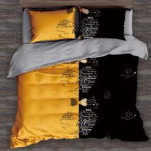 Set Lenjerie de pat 4 piese din Finet Gros pentru 1 persoana- GR4J 12