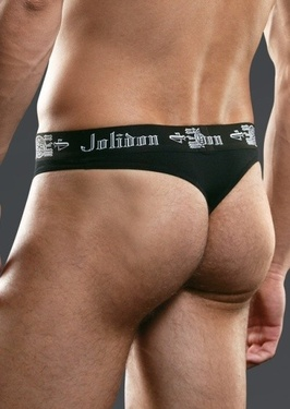 Chilot tanga barbati N82MM negru Jolidon