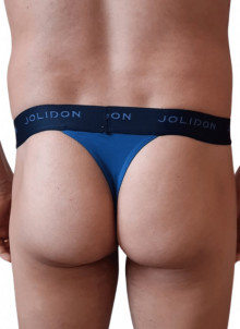 Tanga barbati Jolidon, albastru, spate